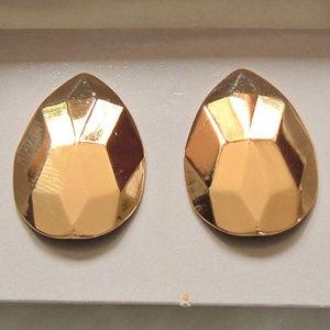 Avon Vintage Golden Facets Pierced Earrings